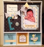 Baby Announcement Shadow Box