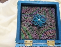 Paper Quilled Box in Sapphire Blue
