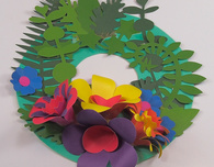 3D Spring Flower Wreath