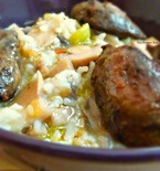 Rice Bowl Recipe - Rice with Mushrooms and Chicken Liver