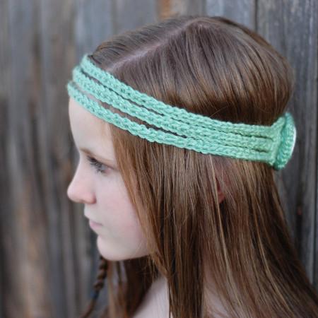Bohemian Headband Free Crochet Pattern