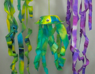 Color Diffusing Paper Jellyfish