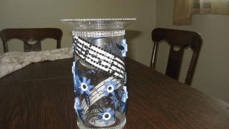 Paper Quilled Glass Candle Holder