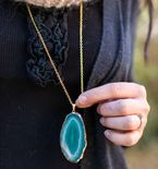 DIY Pendant Necklace with Agate