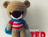 Super TED Free Amigurumi Pattern