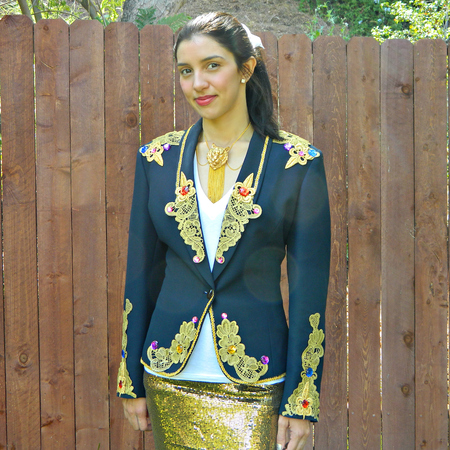 Thrift Store Blazer No-Sew Makeover