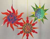 Paper Sun Made with Double Color Card Sheets