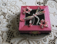 Paper Quilled Box in Pink Metallic