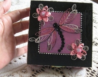 Paper Quilled Box in Black