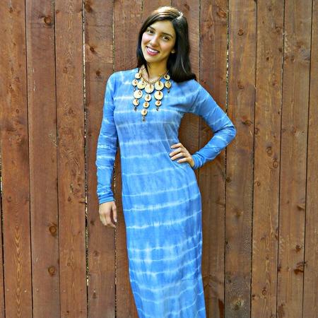 Full Length Tie Dye T-Shirt Dress