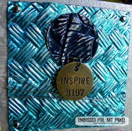 Embossed foil art panel