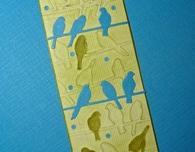 Embossed paper bookmark