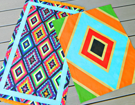No Sew Painted Fabric Rugs