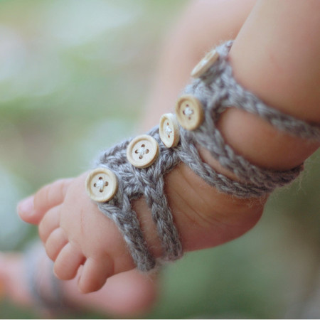 Baby Gladiator Barefoot Sandals
