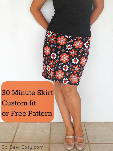 30 Minutes easy skirt pattern