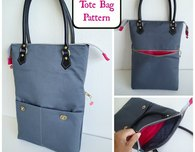Zipper tote bag pattern
