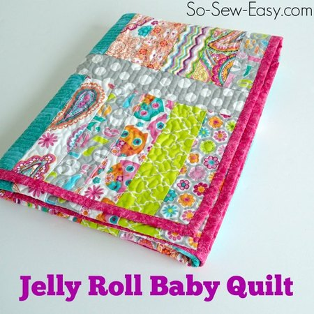 Jelly roll baby quilt