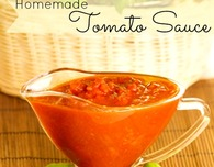 Homemade tomato sauce for canning