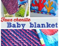 Faux chenille baby blanket