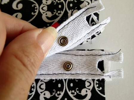 How to sew snap tape to close a pillow back