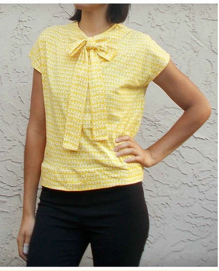 Necktie top free pattern