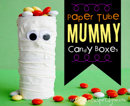 Paper Tube Mummy Craft Boxes