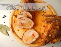 Peppercorn and Garlic Pork Tenderloin roll recipe