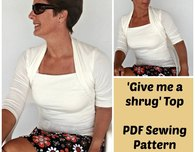 """Give me a shrug"" top pattern"