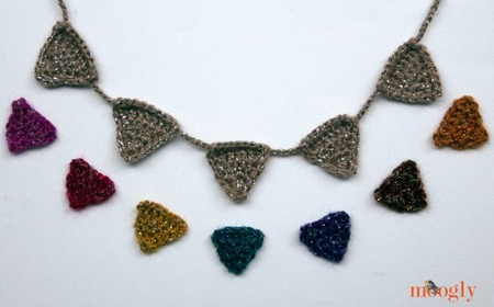 Crochet Bunting Mini Garland or Necklace