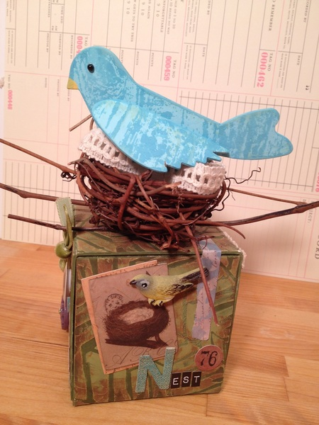 Vintage Bird Artist Trading Block