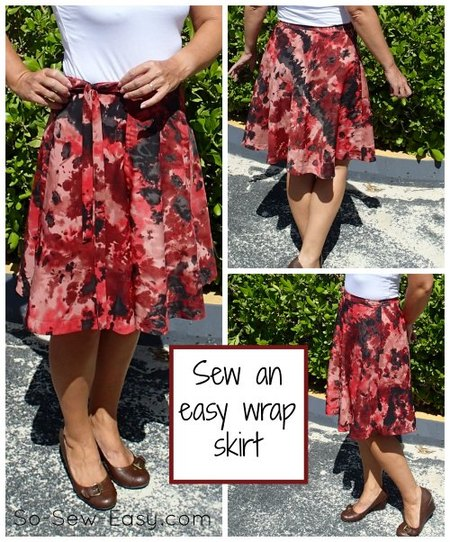 Half circle wrap skirt pattern – the sewing