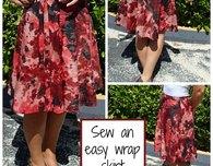 Half circle wrap skirt pattern – the sewing