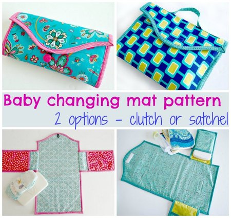 Baby changing mat pattern – two options