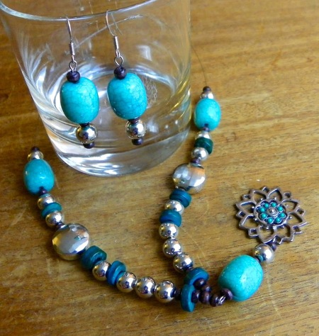 Southwest Beaded Necklace & Earrings