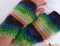 Chevron Lace Fingerless Mitts