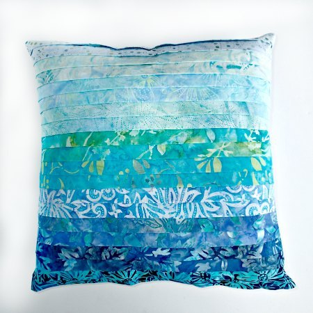 Ombre faux pleated pillow – Sewing Texture