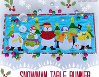 Applique Snowman table runner