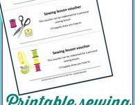 Sewing lessons vouchers to print