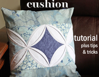 Make a cathedral window cushion