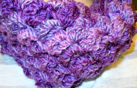 Easy to Crochet Bobbles Infinity Scarf