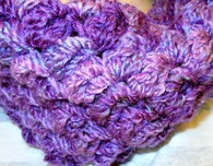Easy to Crochet Bobbles Infinity Scarf
