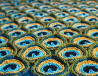 Gorgeous Crochet Peacock Afghan Pattern
