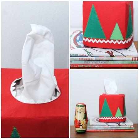 Modern Christmas tissue box