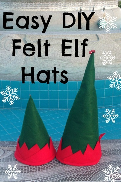 DIY felt elf hat pattern