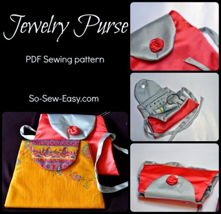 Sew a jewelry travel case pattern