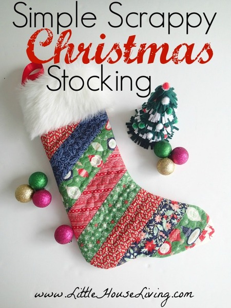 Simple Christmas stocking pattern