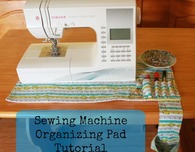 Non slip sewing machine organizing pad