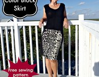Color block skirt - free skirt pattern