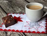 Wonky Stars Christmas Mug Rug