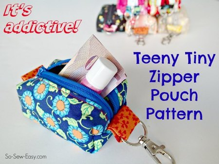 Teeny Tiny Zipper Pouches for Christmas
